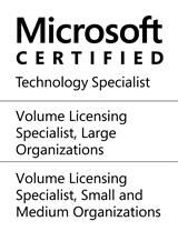 Microsoft Certified Technology Specialist (Volume Licensing Specialist: Small and Medium Organiszations, Large Organizations)