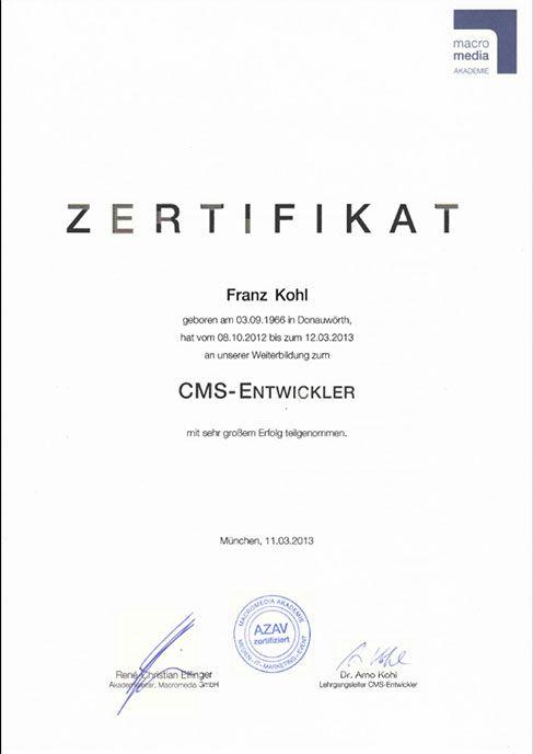 Zertifizierungen | F/X Web Consulting | Internetagentur München